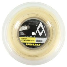 Volkl Classic Synethic Gut 16G/1.30 Reel String Natural by Volkl. $59.99. Featuring a monofilament core construction Volkl Classic Synthetic Gut offers a nice crisp feel while providing long tension hold increased durability and great controlGauge 16 130mmLength 660 feet 200mColor Natural