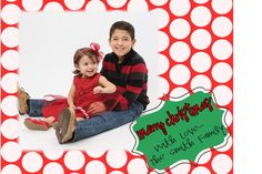 Chevron Christmas Card Digital File RED DOTS with by MadeeBee, $10.00