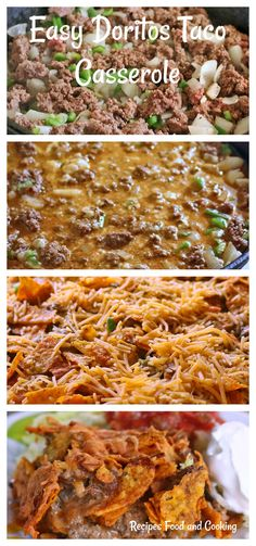 Easy Doritos Taco Casserole Easy Doritos Taco Casserole It's time for Sunday Supper! The Sunday Supper taste makers have got together and we are sharing dinner ideas using ground beef. I decided to make this Easy Doritos Taco Casserole. Casserole Dishes, Casserole Recipes, Meat Recipes, Mexican Food Recipes, Crockpot Recipes, Cooking Recipes, Drink Recipes, Dinner Recipes, Doritos Taco