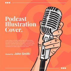 Hand grabs microphone podcast cover illu...   Premium Vector #Freepik #vector #vintage #music #party #cover Sports Graphic Design, Graphic Design Posters, Microphone Drawing, Radio Design, Branding Design, Logo Design, Interview, Retro Radios, Retro Ideas