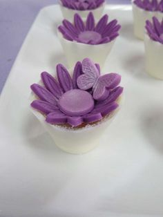 Sweet treats at a butterfly garden fairy birthday party! See more party ideas at CatchMyParty.com!