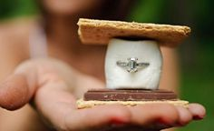 A fun proposal idea.proposal while camping? My future husband better see this. This is so perfect for me. My favorite is the smore or the pumpkin Wedding Events, Our Wedding, Destination Wedding, Dream Wedding, Wedding Ideas, Wedding Stuff, Wedding Reception, Wedding Poses, Reception Ideas