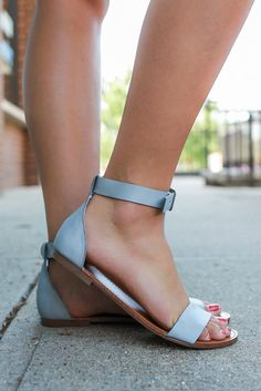 Grey Strappy Cupped Ankle Sandals Sara-24
