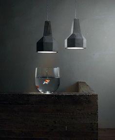 Cement Pendant Lamp by Matteo Ugolini - InteriorZine