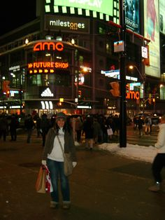 Downtown Toronto Christmas shopping