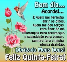 Frases de bom dia e Feliz Quinta- Feira, para Facebook e Whatsapp.