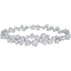 Sparkling Cluster by Harry Winston, Diamond Bracelet ❤ liked on Polyvore featuring jewelry, bracelets, evening jewelry, anniversary jewelry, harry winston, diamond jewelry and special occasion jewelry