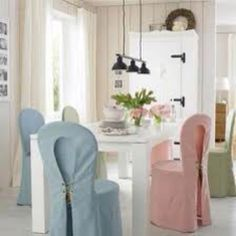 Pastel chair covers