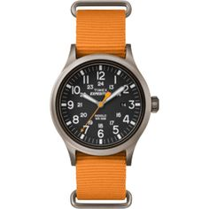 Timex Expedition Scout Slip-Thru Watch - Orange