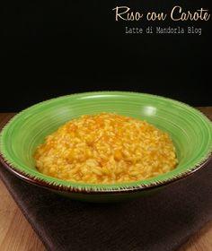 Risotto con crema di carote
