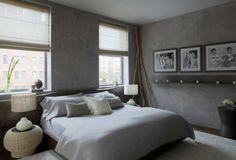 murs gris reflet béton ameublement rotin