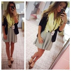 Nikole DeBell Beauty: Cute&Office Appropriate Outfit Of The Day. Office work. Business casual. ootd. fashion, cute work outfit, forever21 dress, skater dress, charlotte russe #crfashionista