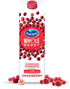 How about a nice FREE carton of Cranberry juice? Well, Ocean Spray is so confident you'll love their new 'Wholeberry' range, they're letting you try it for