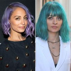 New Hair 2015: See Celebrity Hair Makeovers | InStyle.com Nicole Richie: In mid-January, the star was spotted on the set of a photo shoot with an aquamarine bob, which she paired with blunt bangs.