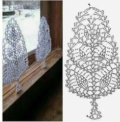 Witam:) To co wczoraj zobaczyłam na swojej tablicy na FB S Crochet Snowflake Pattern, Crochet Leaves, Crochet Motifs, Christmas Crochet Patterns, Holiday Crochet, Crochet Snowflakes, Doily Patterns, Crochet Chart, Crochet Home