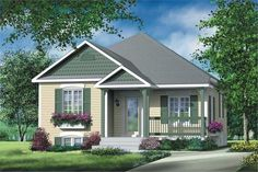 Two Bedroom Small House Plans - √ 16 Two Bedroom Small House Plans , Tiny Home House Plans Small Two Bedroom House Plans Home Cottage Style House Plans, French Country House Plans, Bungalow House Plans, Cottage Style Homes, Cottage Design, House Design, Small Bungalow, Bungalow Exterior, House Plans With Photos