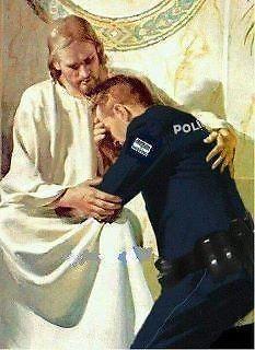 Jesus and Policeman Cross Stitch Pattern