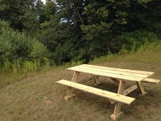 8 Foot conventional Picnic Table