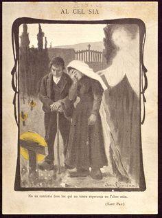 Verso de Recordatori de defunció de Consolació Company. Joan Llimona (1901)