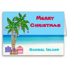 Sanibel Island Christmas Cards, Customizable too! Beach Christmas Cards and Gifts and DESCRIPTION  To view ALL of my Original Designs for Beach Christmas Cards, Ornaments and other Tropical Christmas  Cards and Gifts please CLICK HERE: http://www.zazzle.com/littlelindapinda/gifts?cg=196503493814827408&rf=238147997806552929*/    ALL of Little Linda Pinda Designs CLICK HERE: http://www.Zazzle.com/LittleLindaPinda*/