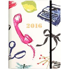 kate spade new york Medium 17 Month Covered Spiral Agenda, Novelty... ($30) ❤ liked on Polyvore featuring home, home decor and stationery