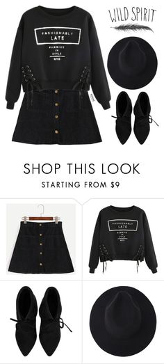 """Romwe #1"" by oliverab ❤ liked on Polyvore featuring Cool Shit, black and romwe"
