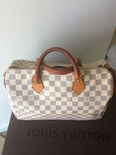 Louis Vuitton Speedy 30 Damier Azur Tote Bag $610