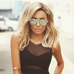 "nice The lob a.k.a. ""long bob"" is the must-have hair look! And Desi Perkins is here t..."