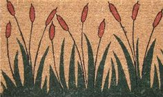 """Cattails 17""""x29"""" Coir with Vinyl Backing by Momentum Mats. $19.99. Fade Resistant, Color Fast and Weather Tolerant. In Stock - Ships in 1-2 days. 100% Natural Coir with Vinyl Backing for Long-Lasting Wear and Durability. Makes a Great Gift - Free Gift Enclosure. Traps Dirt and Moisture. Momentum Mats has been a trusted manufacturer for 28 years and we take great pride in the fact that we use only 100% natural coir and vinyl in our doormats.  Our manufacturing facilities have..."""