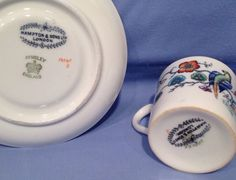 Antique China Cabinet Cup and Saucer Aynsley Hampton of London | eBay