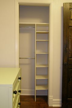 Maximizing storage in a tiny closet