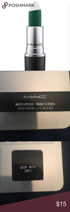 ❗️PRICE⬇️❗️NWT MAC Deep With Envy Matte Lipstick💄 NWT MAC Cosmetics Matte lipstick in Deep With Envy. Net wt. 3G/0.1 US oz. like the item not the price, feel free to make me an offer!! MAC Cosmetics Makeup Lipstick