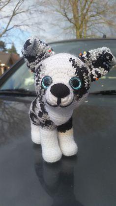 Ravelry: Aussie Amigurumi Puppy pattern by Henriëtte Doornwaard Australian Puppies, Aussie Dogs, Australian Shepherd Dogs, Dog Crafts, Diy Arts And Crafts, Crochet Projects, Sewing Projects, Little Puppies, Free Crochet