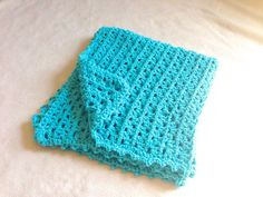 SALE  Crochet Baby Blue Blanket by BethanyHandmade on Etsy, $40.00