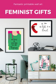 gift ideas for best friend, gifts for best friend, feminist art, feminist illustration, feminist quotes, birthday gift, digital art girl aesthetic, bridesmaid gift #instantdownload #printable #bedroomdecor #gifts #giftsforbestfriends #feministart Feminist Quotes, Feminist Art, Feminine Office Decor, Makeup Rooms, Digital Art Girl, Decor Ideas, Gift Ideas, Inspirational Wall Art, Best Friend Gifts