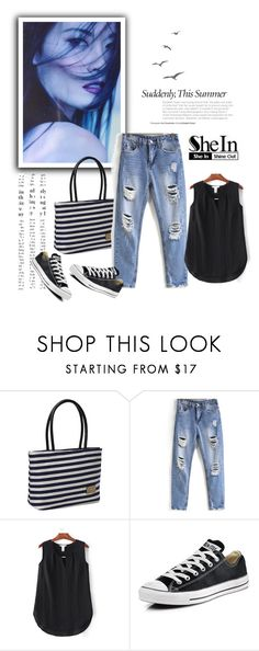 """""""SheIn 9/IV"""" by nermina-okanovic ❤ liked on Polyvore featuring Converse and shein"""