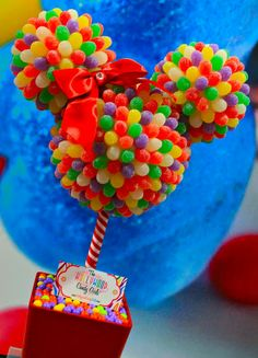disney themed sweet sixteen | Disney Inspired Mickey & Minnie Mouse Custom Candy Centerpieces, Decor ...