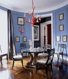 Vinyl plank flooring on pinterest home depot vinyls and for Light blue dining room ideas