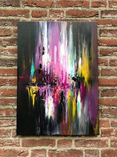 """Buy """" Meet you there II"""" Abstract Acrylic Painting - 50x70cm, Acrylic painting by Mo Tuncay on Artfinder. Discover thousands of other original paintings, prints, sculptures and photography from independent artists."""