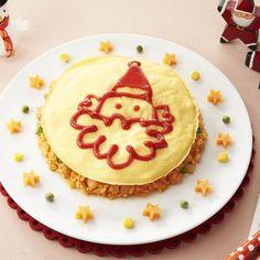 いよいよ12月!今月は、クリスマス気分を盛り上げるお料理を紹介していきます♪ - 105件のもぐもぐ - サンタオムライス by カゴメトマトケチャップ