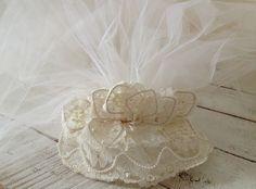 Vintage Ivory Wedding   Bridal Veil  Pearl by sewbeautiful2, $50.00