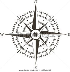 Black Wind Rose Isolated On White Stock Vector 108640466 ...