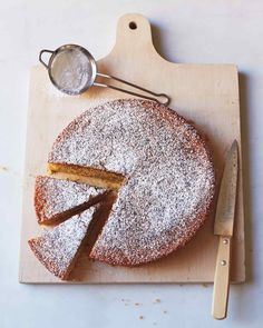 Lemon Cornmeal Cake from Martha Stewart Magazine. No one in my fam is gluten free, but this looked so delish I made it and ate about 2/3 of it myself. So yummy. I substituted almonds with almond butter. Mmmm
