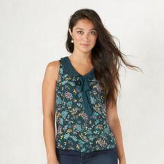 Women's LC Lauren Conrad Lace Collar Tank