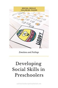 Are you looking for 9 Easter social skills for kindergarten, preschool or special education? Nonfiction Activities, Feelings Activities, Kids Learning Activities, Speech Therapy Activities, Language Activities, Classroom Activities, Preschool Ideas, Musik Player, Happy Emotions