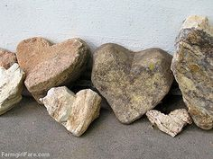 Heart rocks found around the farm - Farmgirl Fare Heart In Nature, Heart Art, Fire Heart, Stone Heart, I Love Heart, My Heart, Heart Shaped Rocks, Guard Your Heart, Cool Rocks