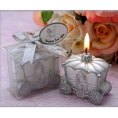 Happily Ever After Carriage Candle Favor – USD $ 1.99