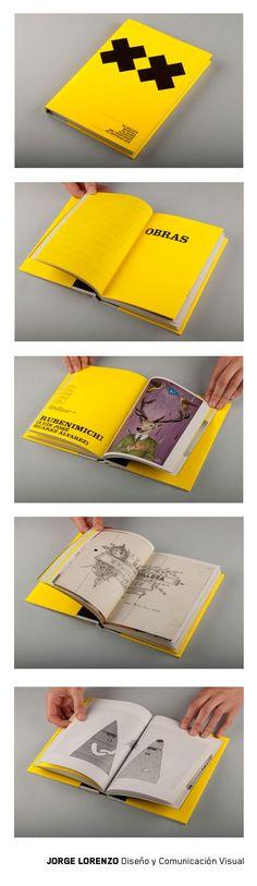 Diseño de catálogo para la XX Muestra de Artes Plásticas del Principado de Asturias #editorialdesign #design #Asturias