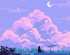 Pixel art (masterpiece series) on Behance Aesthetic Desktop Wallpaper, Anime Scenery Wallpaper, Aesthetic Backgrounds, Cool Pixel Art, Anime Pixel Art, Aesthetic Art, Aesthetic Pictures, Aesthetic Anime, W Two Worlds Art