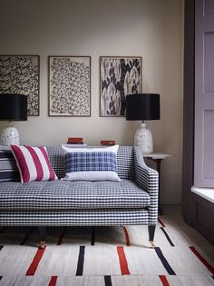 Ridley Lamps by Porta Romana, Arlo & Jacob shoot Living Room Sofa, Living Spaces, Dining Room, Country Sofas, Country Interior, Comfortable Sofa, Furniture Making, House Design, Interior Design